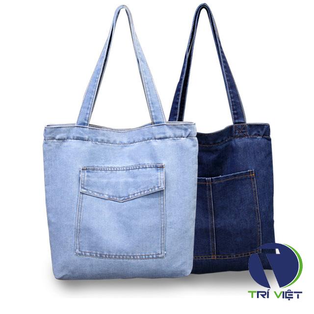 Túi xách vải jean handmade