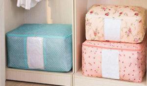 Túi vải bố đựng bộ drap trải giường có khóa kéo kín chắc chắn, sẽ là sản phẩm tiện ích để bạn cất drap trải giường