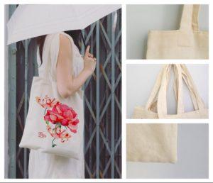 Túi vải bố công sở với thiết kế thời trang, nhiều họa tiết và màu sắc, cho bạn gái phong cách năng động và sành điệu