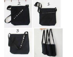 Túi vải bố màu đen trơn có thiết kế đơn giản, phong cách trẻ trung, được làm từ vải bố vô cùng giản dị lại an toàn đối với người dùng