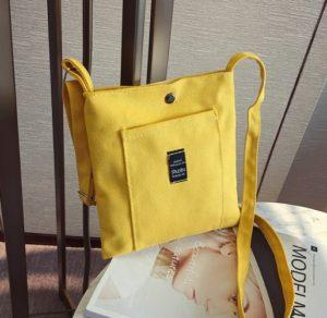 Túi vải bố mini được thiết kế đơn giản, đa chức năng, làm bằng chất liệu vải bố bền và mềm.