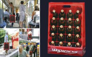 """Túi vải bố hình """"két bia"""" của Carlsberg Shumensko"""