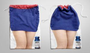 """Túi vải bố """"eo thon"""" quảng cáo thuốc giảm cân"""