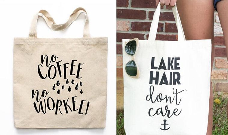 Nếu bạn muốn tạo nên sự khác biệt cho cá nhân, cửa hàng, công ty của mình thì có thể tự thiết kế và đặt may túi vải bố theo yêu cầu