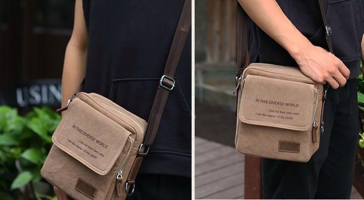 Túi đeo chéo vải bố cao cấp được rất nhiều người yêu thích sử dụng với sự tiện dụng cũng như tính thẩm mỹ cao
