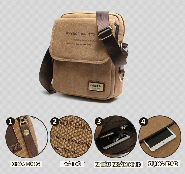 Túi vải bố đeo chéo cao cấp với những tính năng vượt trội đem lại tiện ích cho người sử dụng với mức giá hợp lý