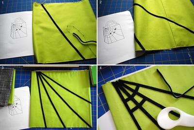 Trang trí mạng nhện cho thêm phần độc đáo, bí ẩn của chiếc túi xách vải bố ngày Halloween