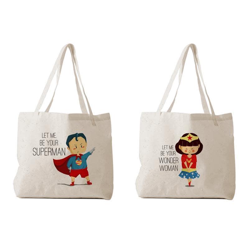 Túi vải bố couple giúp các cặp đôi yêu nhau hay các cặp vợ chồng thể hiện được tình cảm của mình với một nửa của mình