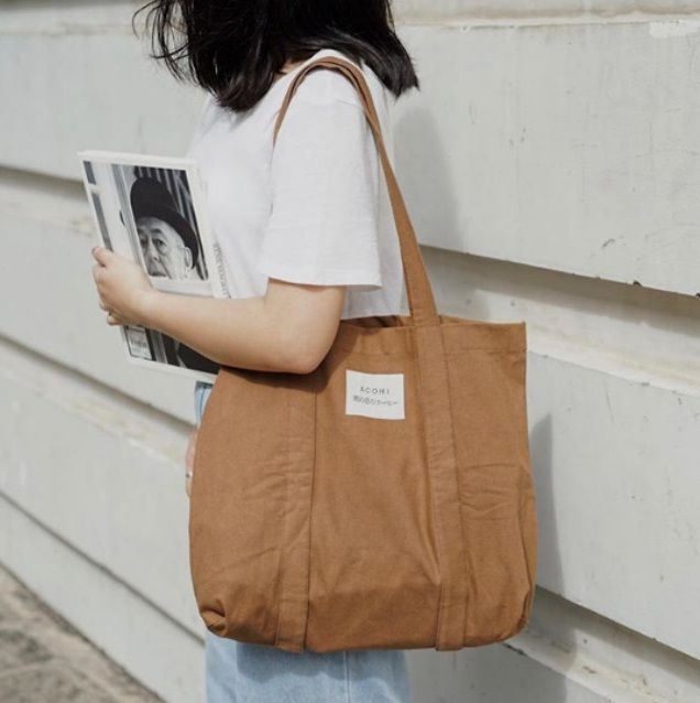 Túi vải bố cổ điển là giải pháp hoàn hảo cho các bạn để giải quyết vấn đề những đồ đạc cần mang theo.
