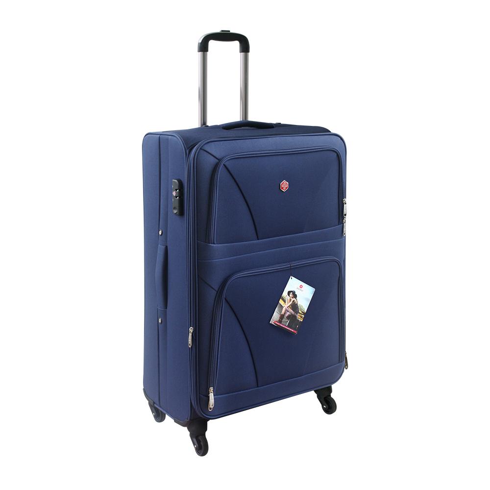 Bánh xe với kiểu túi vải bố du lịch dạng vali sẽ giúp chuyến du lịch không cảm thấy mệt mỏi vì đồ dùng quá nhiều nữa.