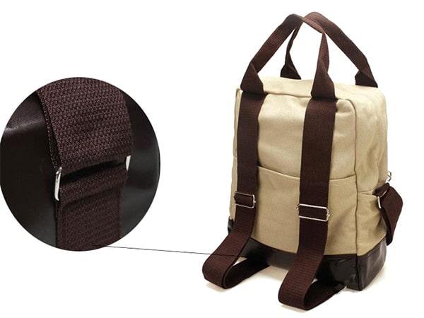 Túi vải bố 2in1 tiện dụng mang đến cho người sử dụng phong cách hiện đại với màu sắc trang nhã, sạch sẽ