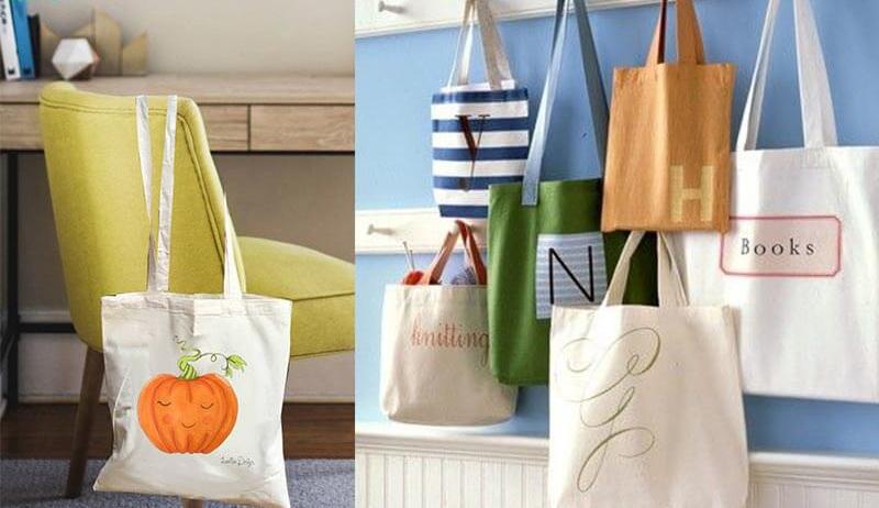 Khi sử dụng chiếc túi vải bố bạn sẽ mang một phong cách riêng, năng động.