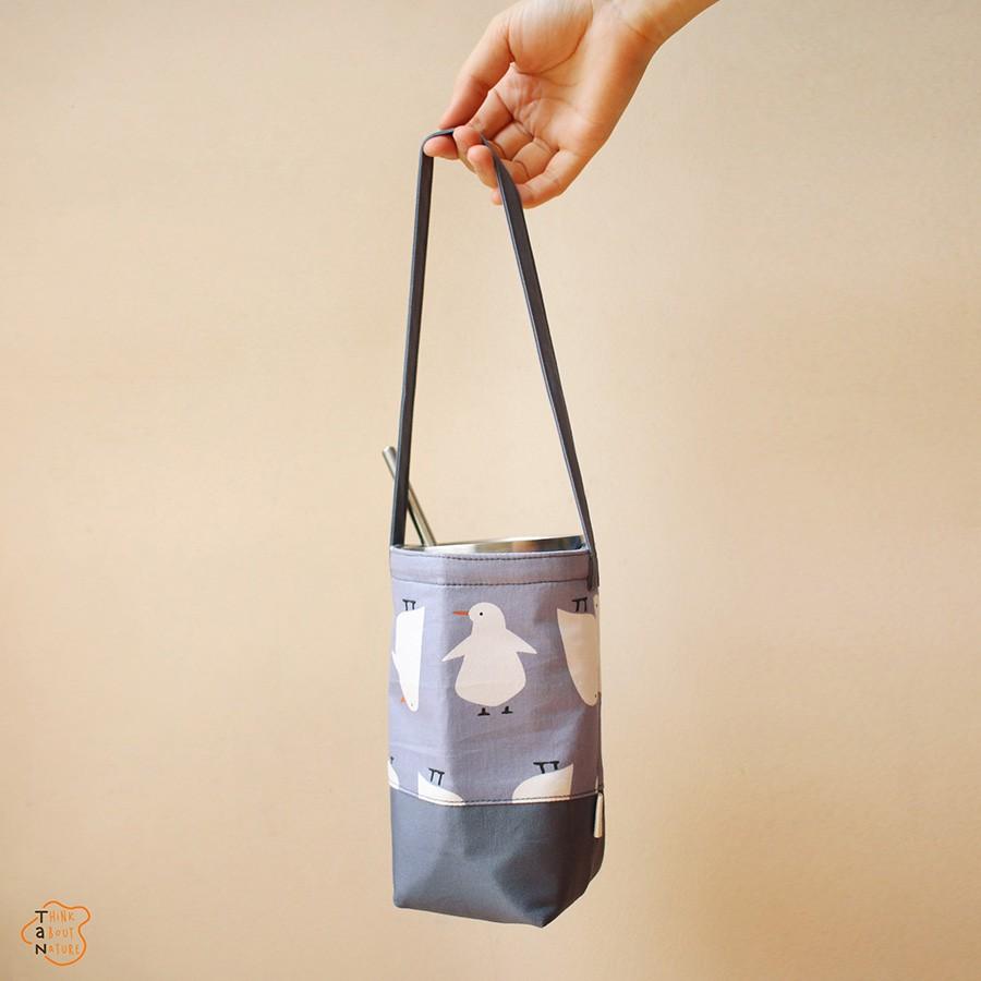 Túi vải bố đựng bình, ly được thiết kế gọn gàng lại sành điệu