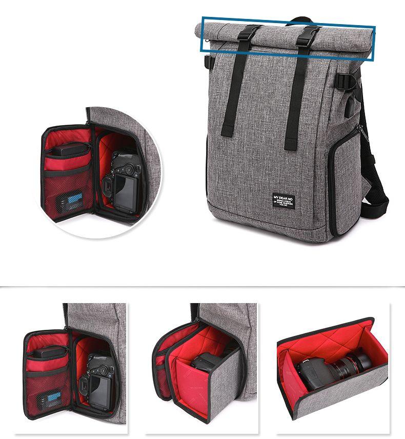 Túi đựng máy ảnh bằng vải canvas là phụ kiện tiện lợi, bảo vệ chiếc máy ảnh của bạn