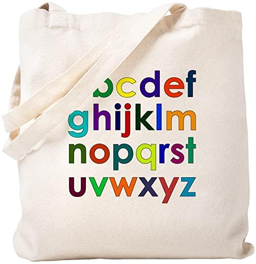 Túi vải canvas in bảng chữ cái với thiết kế bền chắc, tiện dụng và giá cả phù hợp