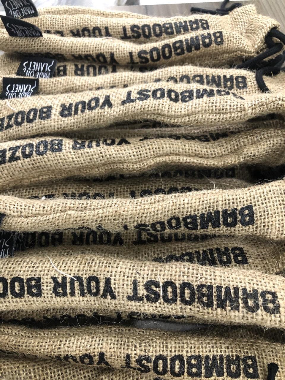 Túi vải canvas đựng 1 đôi đũa sang trọng, giá rẻ tại Trí Việt