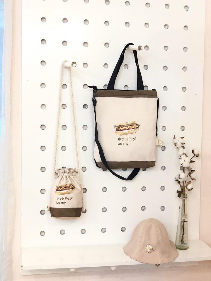 Bộ đôi túi đeo chéo và túi xách canvas phù hợp cho nhu cầu sử dụng khác nhau