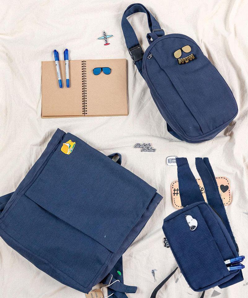 Combo túi canvas màu xanh tiện dụng, thời trang và đáng giá, phù hợp cho nhu cầu sử dụng khác nhau