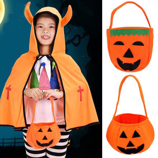 Túi vải bí ngô đựng bánh kẹo ngày Halloween rất đẹp mắt, đảm bảo vệ sinh và sang trọng.