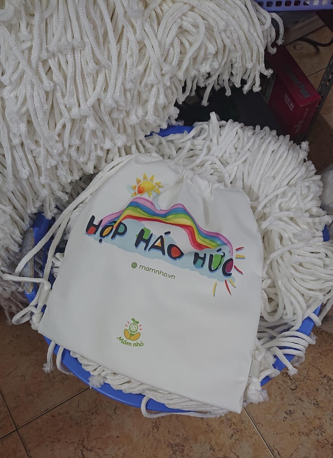 Balo dây rút vải canvas chất lượng, thời trang và giá rẻ tại Trí Việt